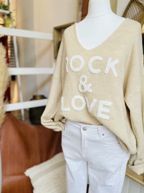 Pull ROCK & LOVE Beige