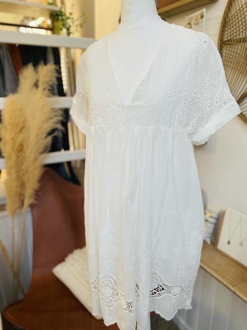 Robe short Blanche