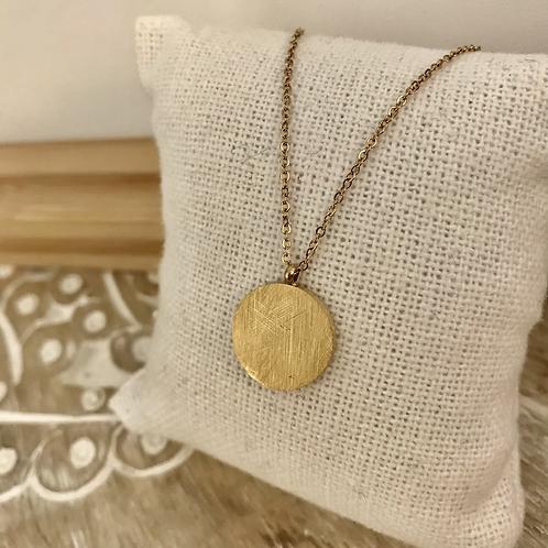 Collier médaille - Doré