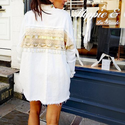 Veste bohème Blanc