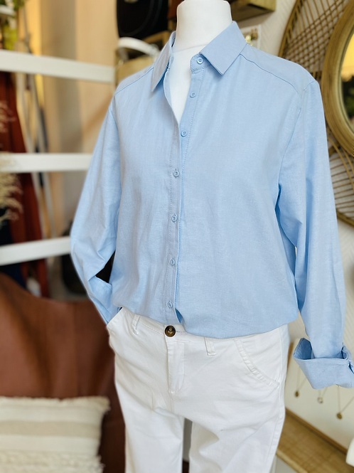 Chemise courte Bleu