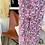 Thumbnail: Pantalon large fleuri Rose fuchsia