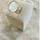 Thumbnail: Bague pierre - Doré/Blanc