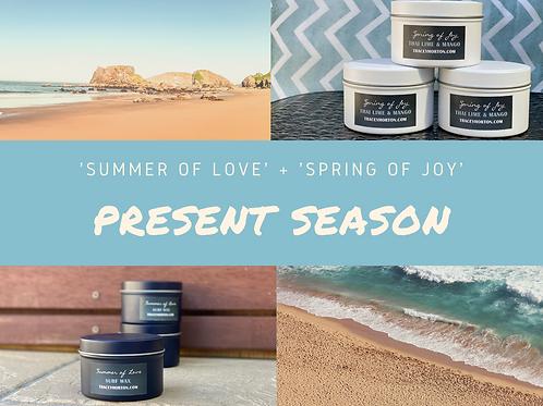 Double Present Season Candle Set