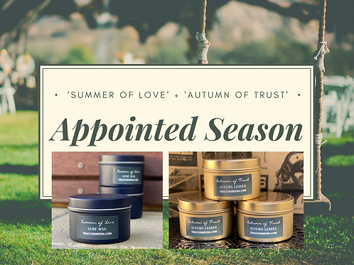 Double 'Appointed Season' Candle Set