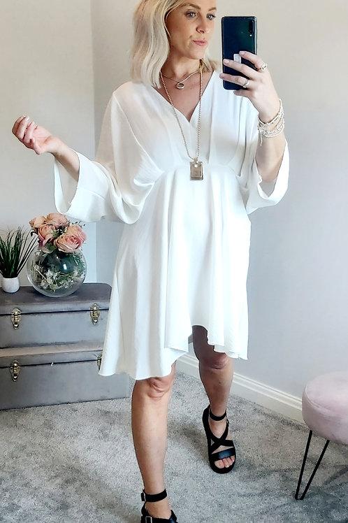 Grecian Floaty Dress In White