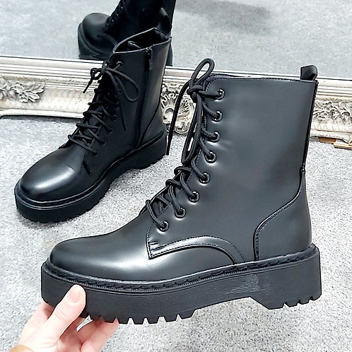Black Platform Chucky Boot