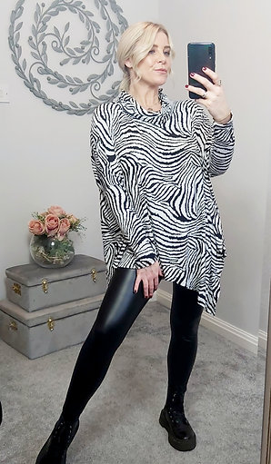 Black & White Zebra Print Top