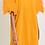 Thumbnail: Orange Mesh Puff Sleeve T-shirt Dress