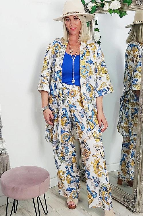 Paisley Print Wrap Style Kimono