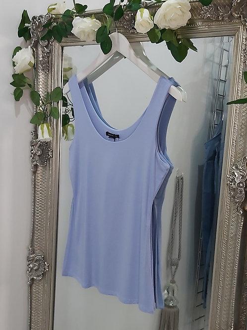 Baby Blue Stretch Vest Top