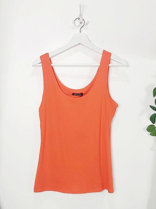 Orange Stretch Vest Top
