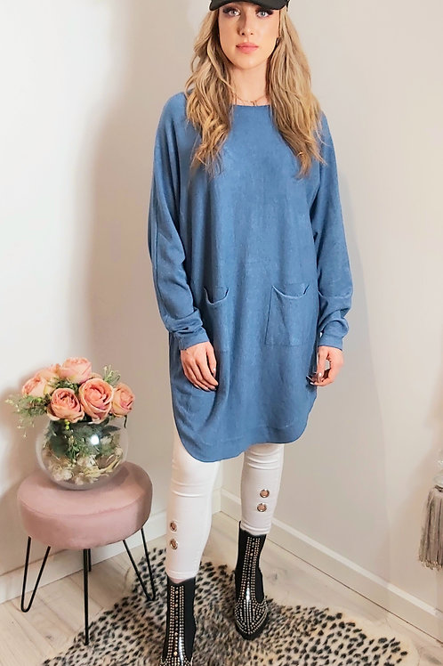 Blue Slouch Oversized Jumper