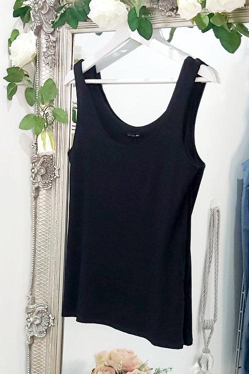 Black Pink Stretch Vest Top