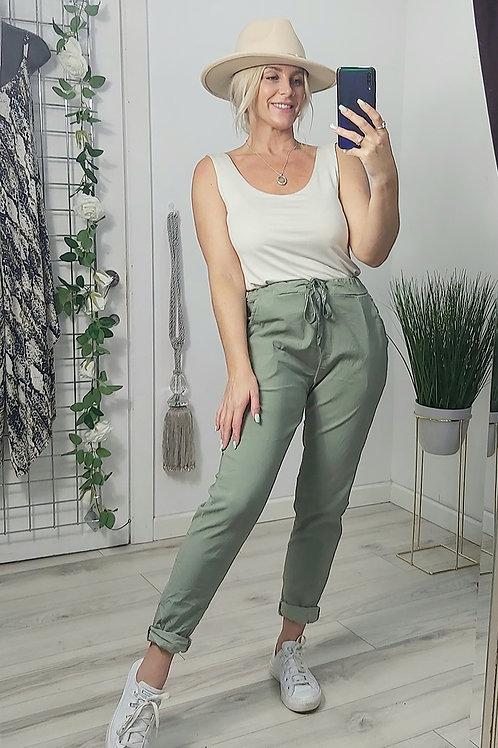 Khaki Stretched Magic Pants