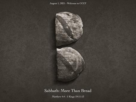 Podcast - Sabbath:  More than Bread