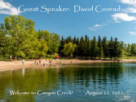 Podcast - Guest Speaker:  David Conrad