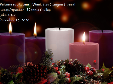 Advent Week 3 - What do you hunger for?