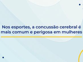 Nos esportes, a concussão cerebral é mais comum e perigosa em mulheres