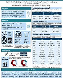 Análise descritiva e comparativa do perfil nutricional e cardiometabólico de mulheres conf