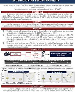 Consumo de sódio em indivíduos com hipertensão arterial análise estratificada por sexo e f