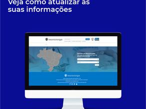 Portal Brasileiro da Neurocirurgia - Veja como atualizar as suas informações