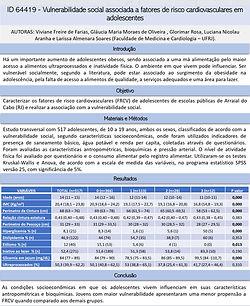 AVALIAÇÃO DO CONSUMO DIETÉTICO DE FLAVONOIDES, PRESSÃO ARTERIAL, PERFIL LIPÍDICO E GLICÍDI