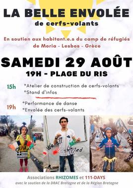 27 août // Confection de cerfs-volants en soutien aux habitants du camp de réfugié de Moria