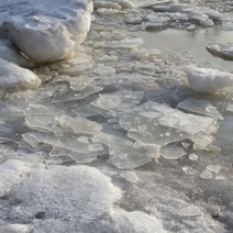 Ice on strand