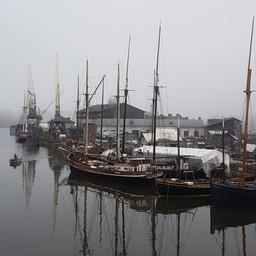 Dry dock spring fog