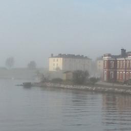 Spring morning fog