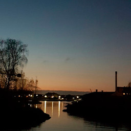 October evening view