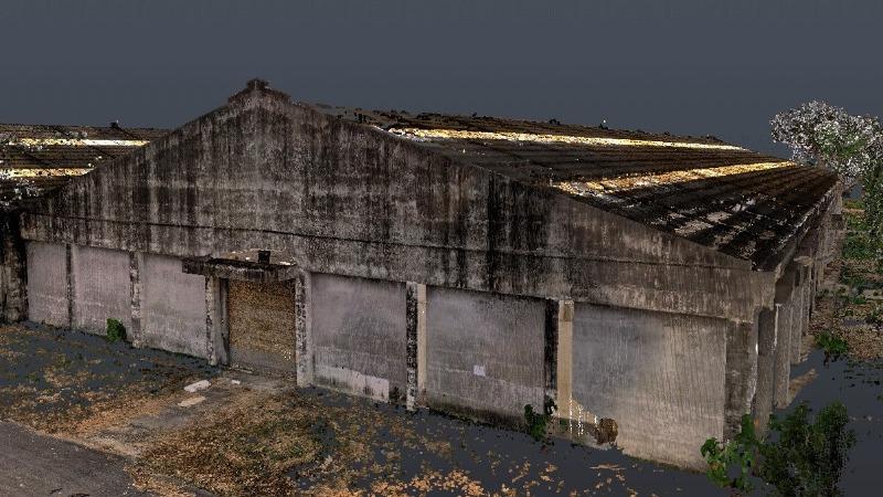 歷史建築雷射掃描建模