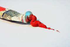 Rød olie maling