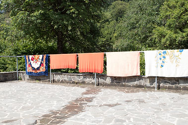 Blankets drying