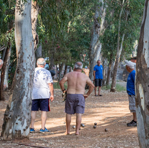 Playing Boules in Preveza