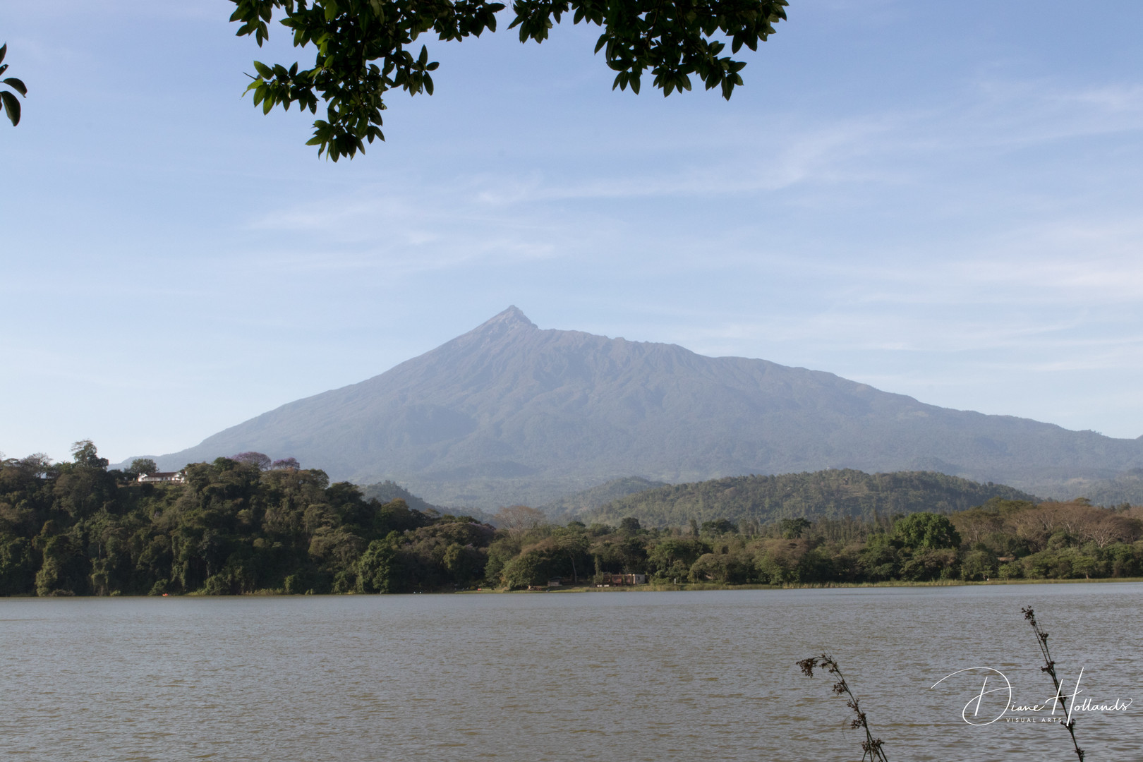 Lake Duluti and Mount Meru