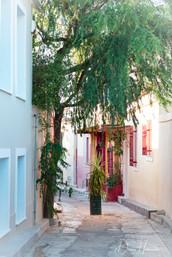 Narrow street in Athens