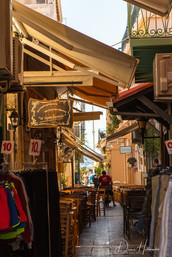 Alleyway in Preveza with shops