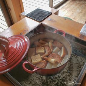 Cooking over coals