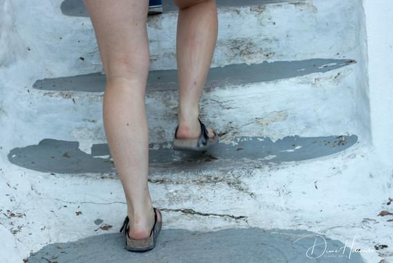 Worn down steps to Acropolis