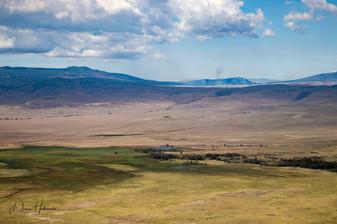 View from ridge of Ngorogoro