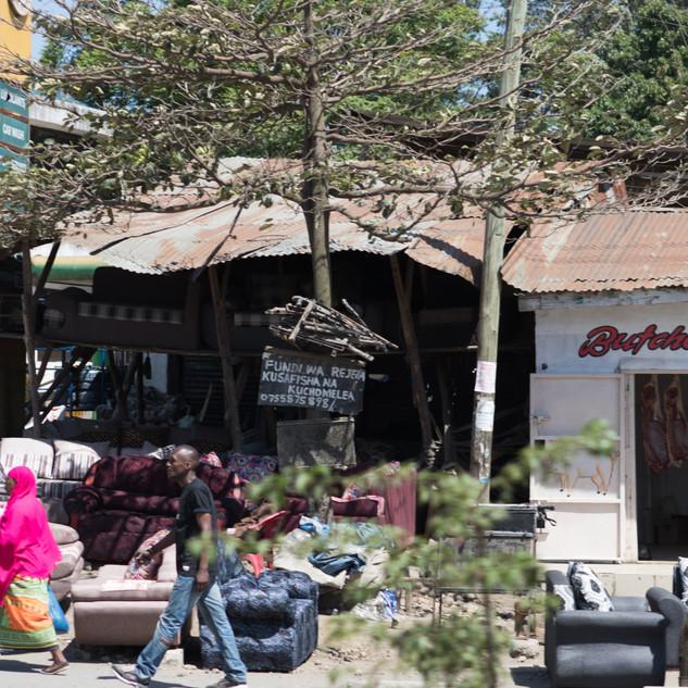 Street on outskirt of Arusha