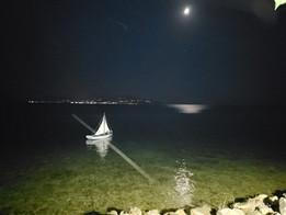 Anchored boat, Preveza