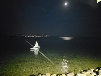 Anchored boat, Preveza