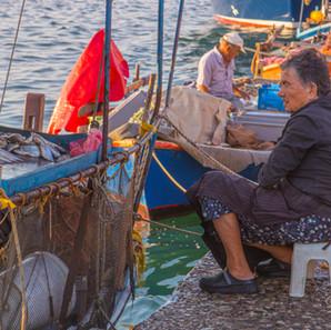 Selling fish in Preveza
