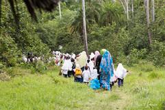 Jozani Forest, School children