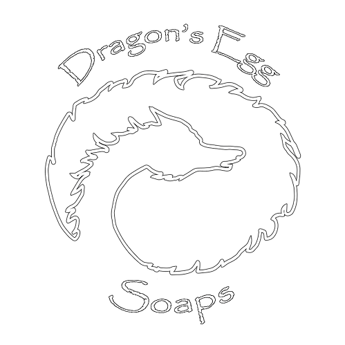 Dragon's Egg Soap logo above a selection of soaps