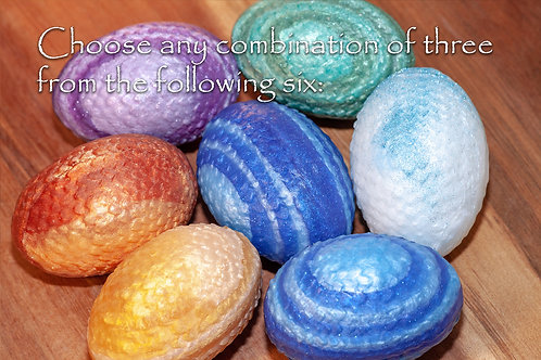 """Collection - Any 3 Dragon's """"Egg"""" Soaps"""
