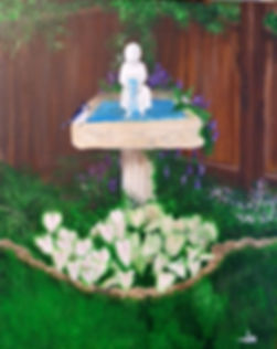 My Garden ~ Birdbath Corner.JPG